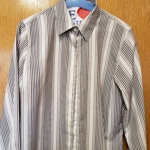 Foxcroft Striped Blouse Sz.4